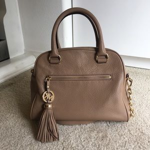 Michael Kors Small Leather Satchel With Strap